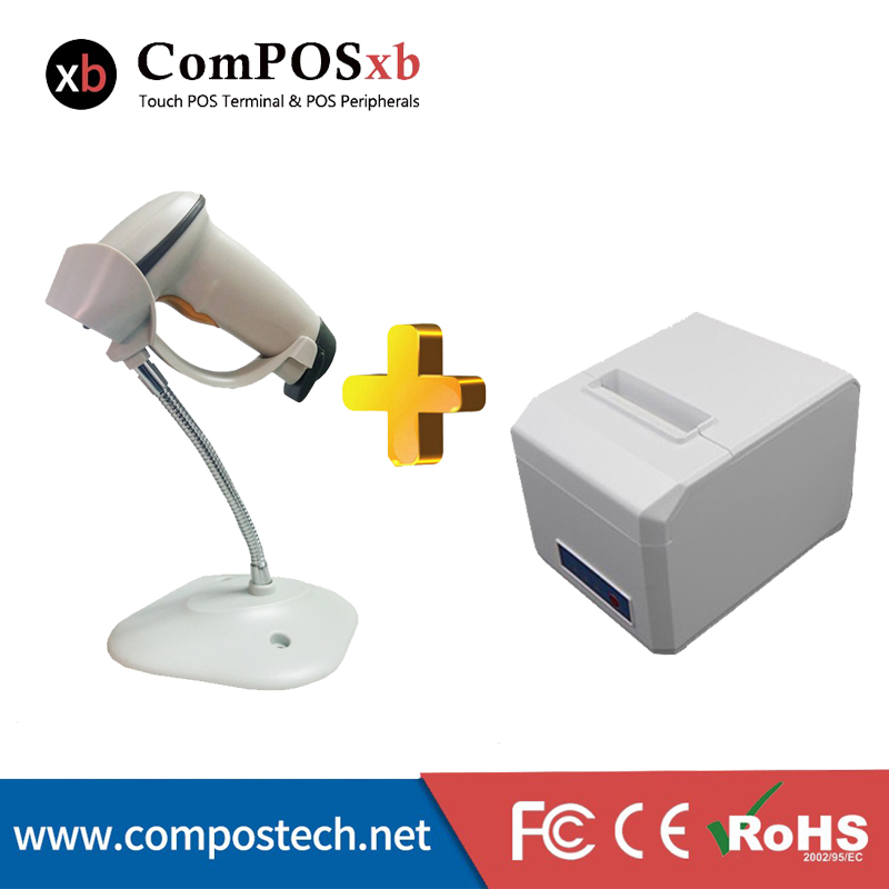 ComPOSxb Selling 80mm printer with Scanner White High quality Low Price for supermarket Receipt high quality tr1000 tr2020 900168 26 selling with good quality