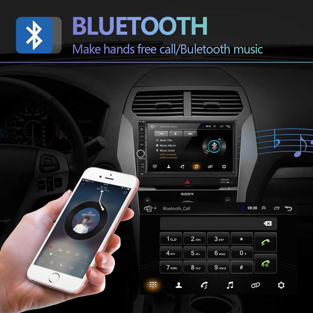 Podofo 2 din Radio samochodowe z androidem WIFI GPS samochodowy odtwarzacz multimedialny 2 DIN Radio dla VW Volkswagen Nissan Toyota Kia Hyundai autoradio