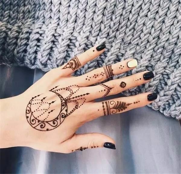 1Pc Black Henna Tattoos Indian Temporary Tattoo Ink Hand Arm Leg Body Art Tattoo Paint Paste YE3 4