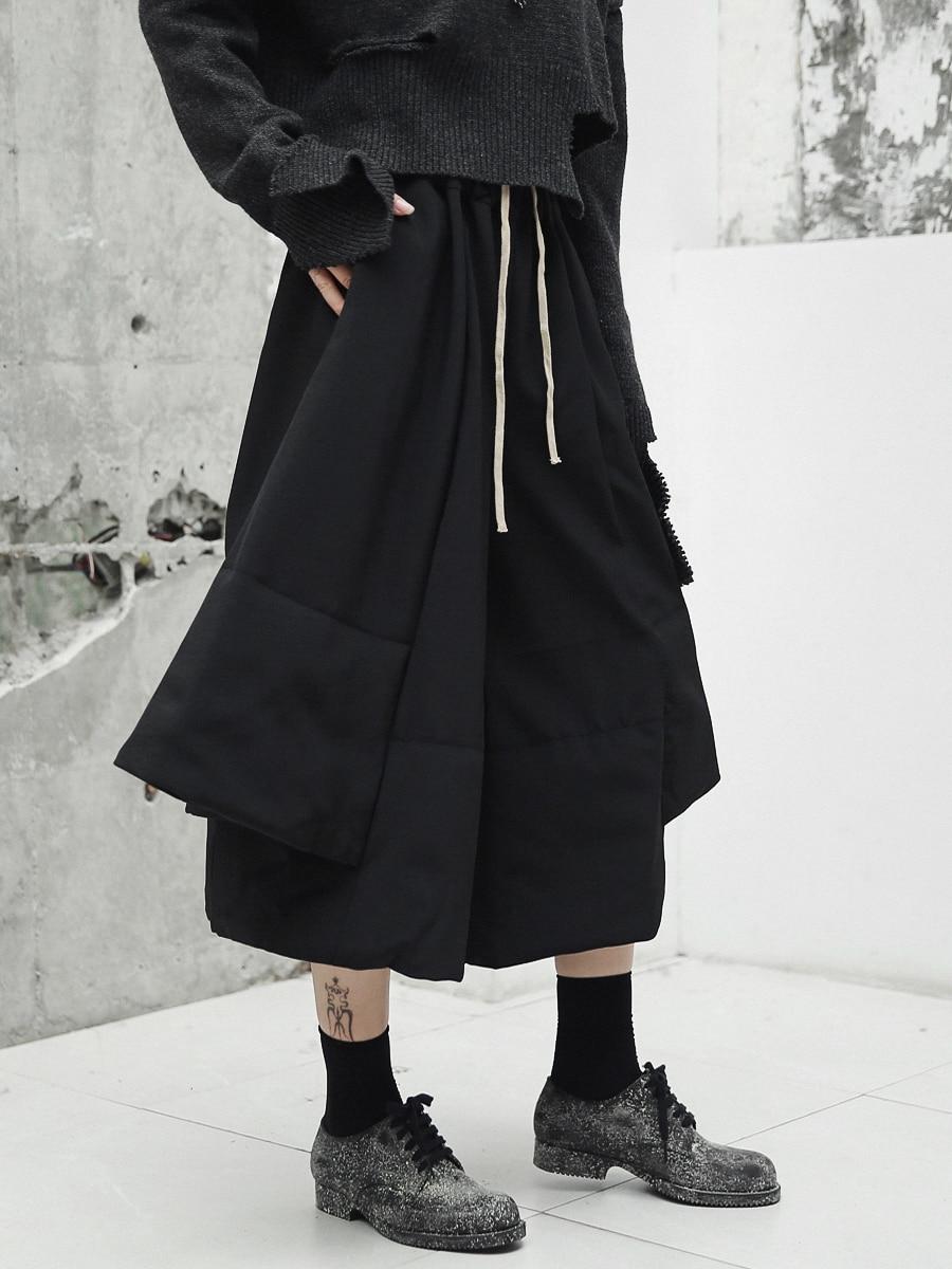 Mujeres Casuales Superaen Algodón Salvajes En pantorrilla Europa Pantalones Moda De Nueva Toda Mujeres Elástico Pierna Cintura La Black Primavera 2019 Aqq7t