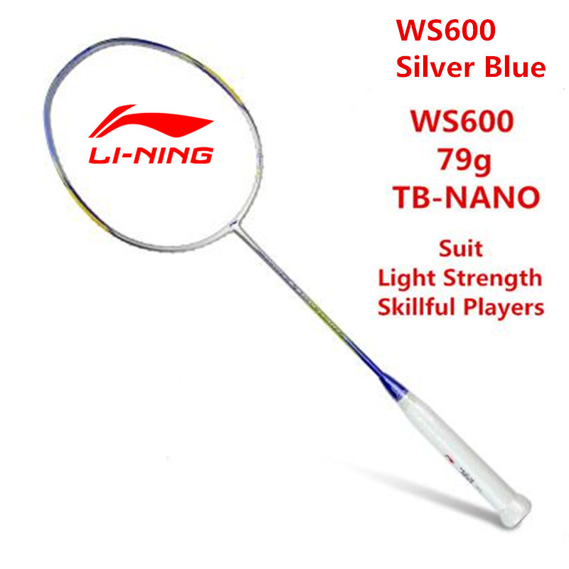 Li Ning Badminton Racket Super Light Windstorm 600 Ultralight 5U(79g) Full Carbon Lining AYPJ194 Professional Offensive Racquets original li ning men professional basketball shoes