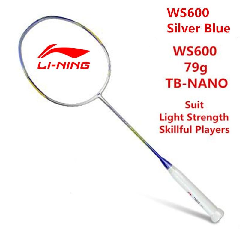 Li Ning Raquette De Badminton Super Lumière Tempête 600 Ultra-Léger 5U (79g) Doublure En Carbone AYPJ194 Professionnel Offensive raquettes