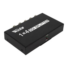 Wiistar SDI Splitter 1x4 Multimedia Split Extender Full HD 1080P SDI 4 Ports Splitter SD-HD 3G-SDI for TV SDI Camera