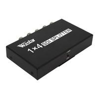 Wiistar SDI Splitter 1x4 Multimedia Split Extender Full HD 1080P SDI 4 Ports Splitter SD HD 3G SDI for TV SDI Camera
