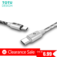 TOTU USB Type C Cable For Samsung S8 Plus Fast Charging Data Sync Type-C Charger Cable For Xiaomi Mi5 4C Nexus 5X 6P Oneplus 2 3