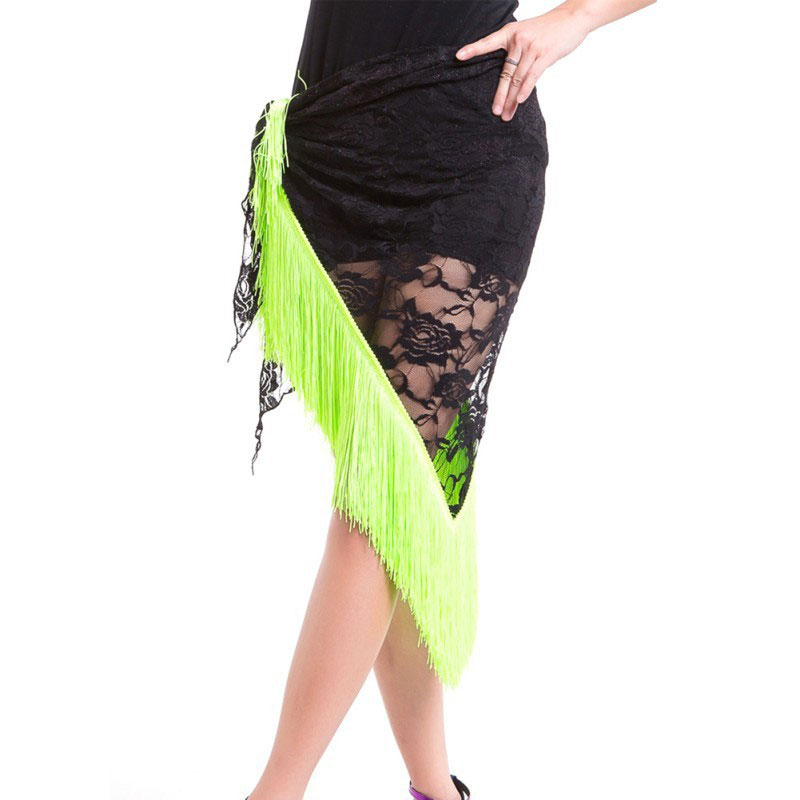 Sexy Lace Shawl Hip Triangle Towel Latin Dance Tassel Hip Scarf Fringed Waist Belly Dance Hip Triangular Bandage