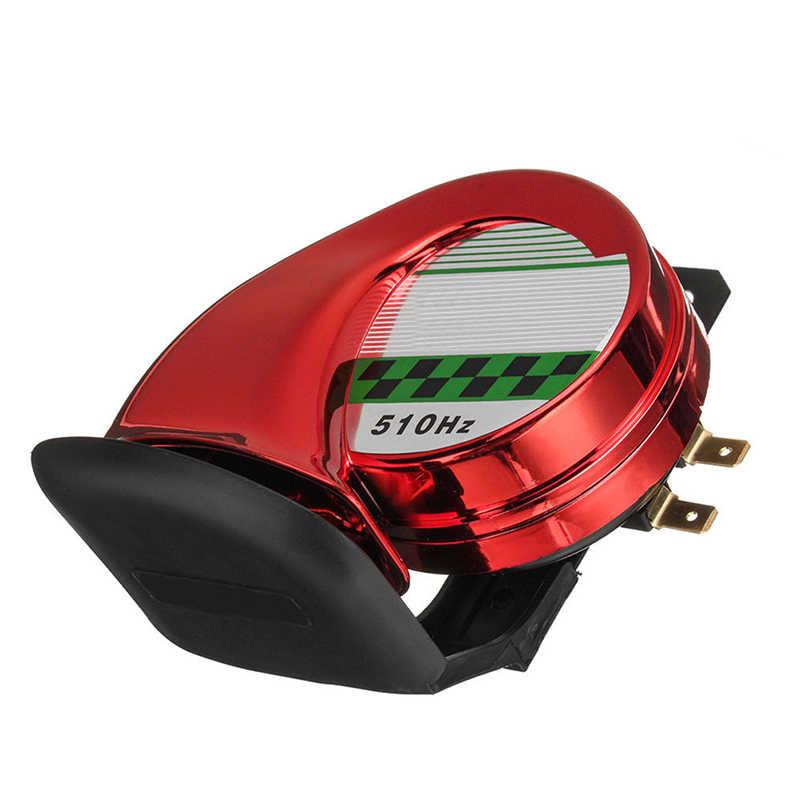 Модифицированные аксессуары для мотоциклов громкий Электрический клаксон в форме спирали для Универсальный 12 в автомобиль, мотоцикл электромобиль E-bike громкий динамик