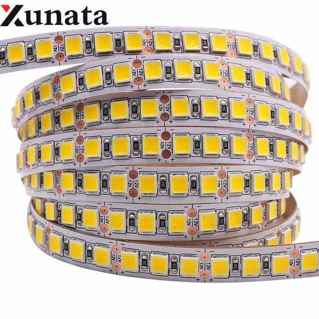 Bande de mise en évidence Flexible 5M LED, ruban de mise en évidence Flexible 5m 4040, 5054 5050 5630, 12V, lumière LED, 120led s/M, plus brillant que 2835