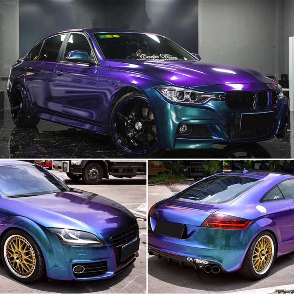 Glossy Chameleon Pearl Glitter Vinyl Sticker Car Whole Body Wrap Film Diamond Glitter Vinyl Film 20CM/30CM/50CM/60CM/75CM 2m 18mx152cm glossy matte chameleon pearl glitter vinyl sticker purple blue chameleon automobiles car wrap diamond vinyl film