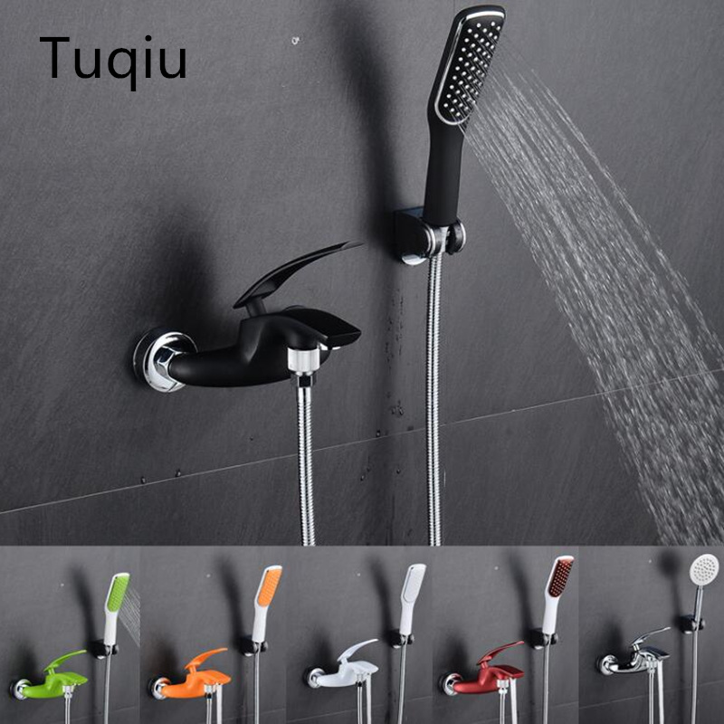 High quality brass chrome and colorful wall mounted bathroom faucet,Luxury green bathroom shower faucet with shower head high quality colorful flowers and girl pattern removeable wall stickers