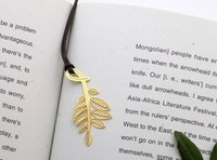 Creative metal bookmarks carving golden color plant Exquisite vintage stationery gift   Wholesale