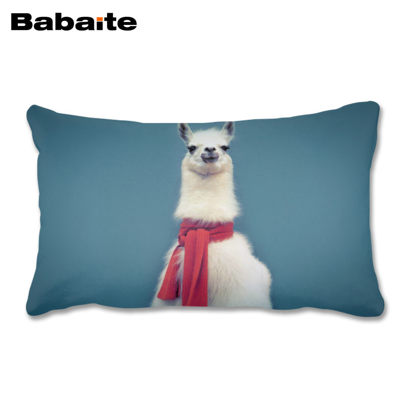 Hipster Llama Lama Personalized Funny Rectangle Pillow Case Invisible Zippered Design