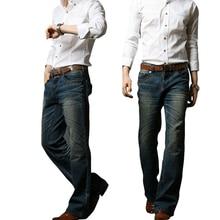 2018 herren Ausgestelltes Jeans Boot Cut Bein Ausgestelltes Elastische Dünne Fit Mittlere Taille Männlichen Designer Klassische Denim Jeans Bell Bottom jeansMB16240