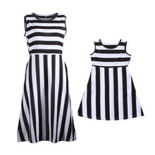 Matching Mother Daughter Striped Casual Summer Dress