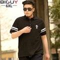 New 2014 Summer Plus Size Men Polo Clothing 6 xl 5 xl 4 xl 3 XL Mens Polo Shirts Short Sleeve Black Polo Homme 1015polo