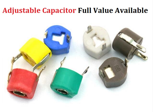 10PCS Adjustable Capacitor 5P 10P 20P 30P 40P 50P 60P 70P 120P/PF JML06-1-120P Trimmer Variable Capacitance Plastic 6mm 20/30/PF
