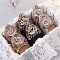 Women Pregnant Shoes Ballet Foldable Silver Flexible For Drive Walking Slip-on Plus Size 10 Large 45 Comfortable Soft Flats