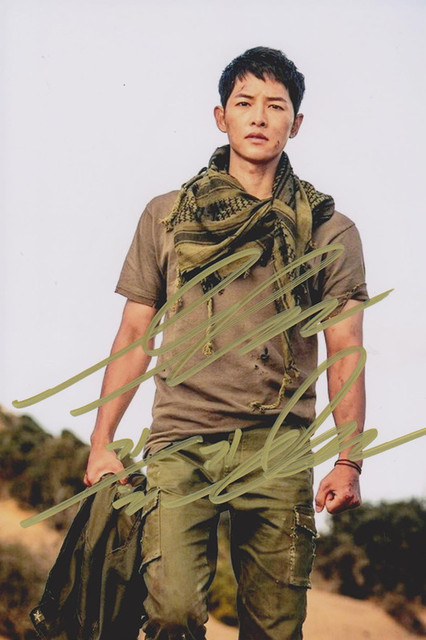 Song Joong Ki Autographed Photo Descendants Of The Sun 46 Inches Famous Actor Gifts