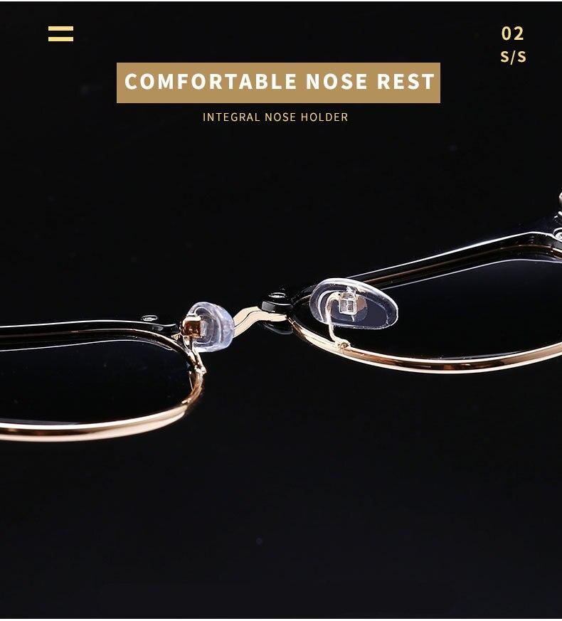 Солнцезащитные очки с полуоправой uv400 для мужчин и женщин