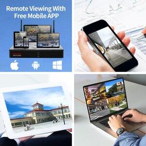 Image 4 - LENOVO 6CH Array HD Wireless Security Camera System DVR Kit 960P WiFi camera Outdoor HD NVR night vision Surveillance camera