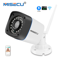 MISECU 360VR Lens Panoramic H 264 E PTZ 960P IP Wifi Camera Multi Screen Audio Bullet