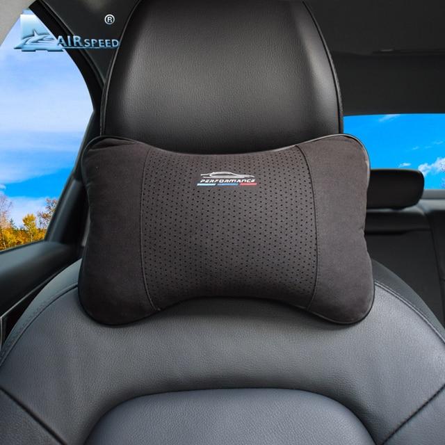 AIRSPEED Leather Car Pillow Neck Pillow Headrest Accessories Universal for BMW ///M E46 E90 E92 E60 E39 E36 F30 F10 F20 G30 E87