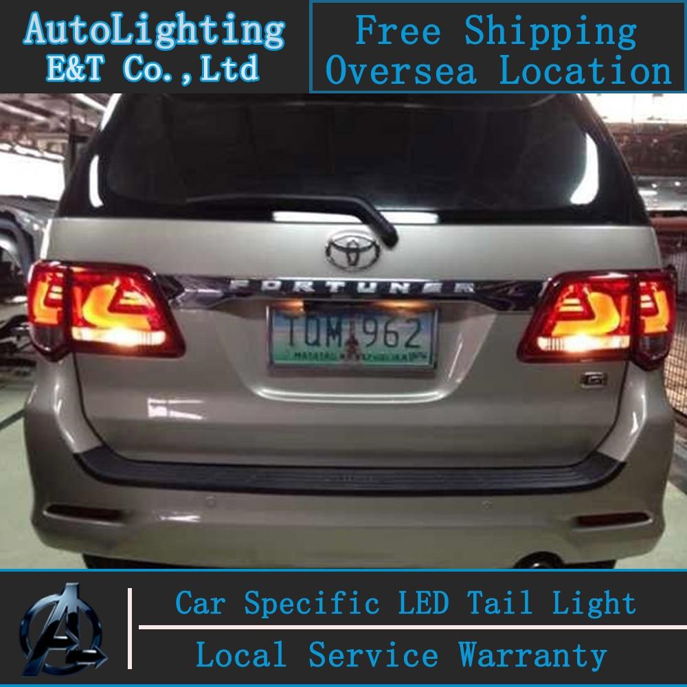 Автоматическое освещение светодиодные задний фонарь для Тойота Фортунер задний фонарь сборки 2012-2013 удара задний багажник фара, сигнальная лампа с 4шт.