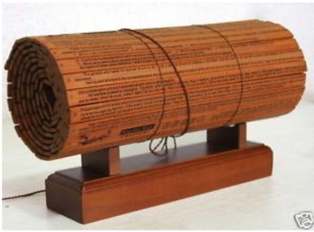 """RARE livre De Bambou """"L'ART DE LA GUERRE de SUN TZU"""" livraison gratuite"""