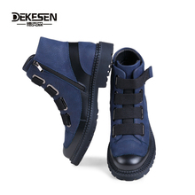 DEKESEN Fashion Men Winter Shoes, Genuine Leather Winter Boots for Man, Men Waterproof Motorcycle Boots, Comfortable Ankle Boots