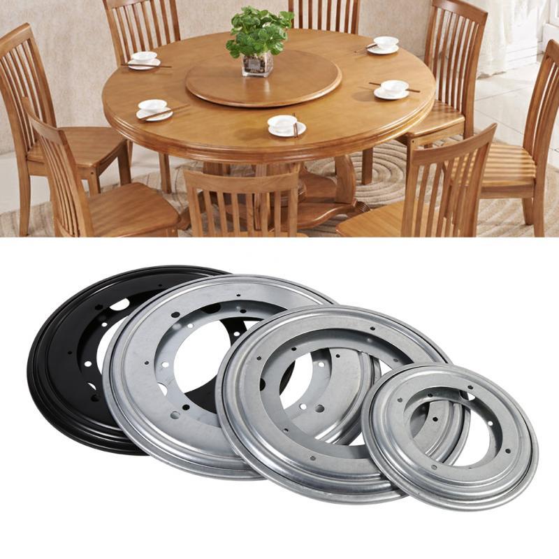 4 Types Sliver/Black Tableware Heavy Duty Round Shape Galvanized Lazy Susan Turntable Bearing Rotating Swivel Plate