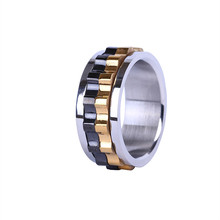 Jewelry Titanium Alloy Gear Fashion Rings for Men Personalized Large Size Stainless Steel and Boys Gif