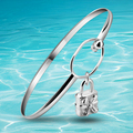 Free shipping, 925 silver flower locks bracelet Sterling silver jewelry fashion ladies open the silver bracelet Romantic gift