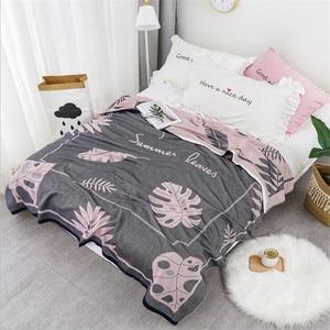 Image 2 - במבוק כותנה קיץ שמיכה למבוגרים מצעים שמיכת כיסוי המיטה 150*200 cm 2 שכבות מוסלין שינה גזה שמיכת עבור אחר הצהריים תנומה