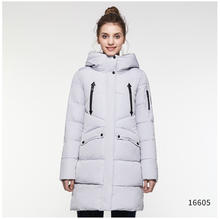 ICEbear Girls Winter Jacket 2018 Zippers Casual Cotton Padded Jackets Slim Solid Woven Thickening Medium Long