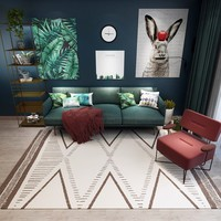 Persian Nordic Style Geometric Carpet for Living Room Anti Slip Soft Kids Bedroom Floor Mats Doormat Large Size Home Area Rugs