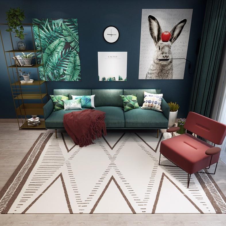 Tapis géométrique persan de Style nordique pour le salon tapis antidérapants doux de plancher de chambre d'enfants paillasson de grande taille de petits tapis à la maison