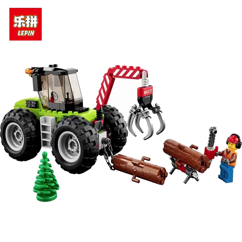 цена на 02092 194pcs City Series of Forestry Engineering Vehic Lepin Building Block Compatible With 60181 Bricks Toy For Children