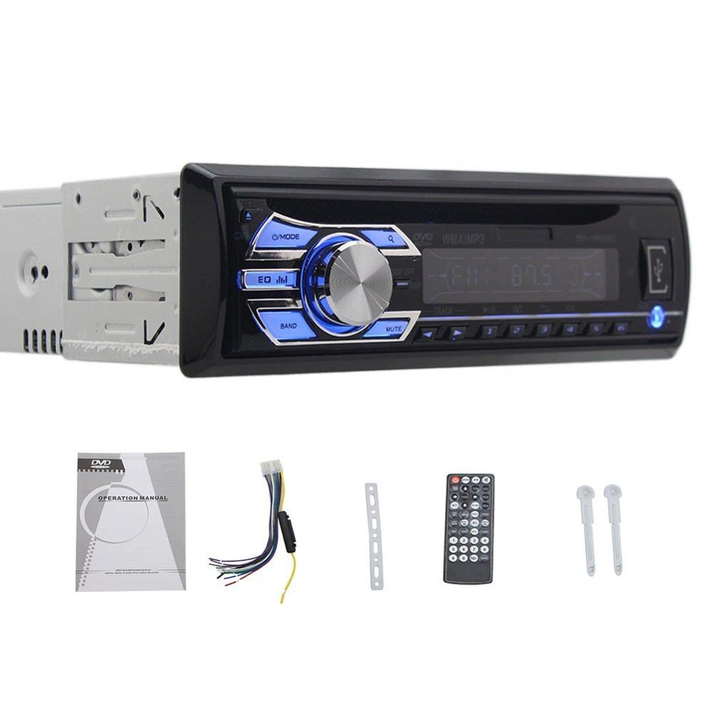 Single DIN Car Stereo FM AM Radio USB SD Car DVD CD Player for Universial Car With Remote Control