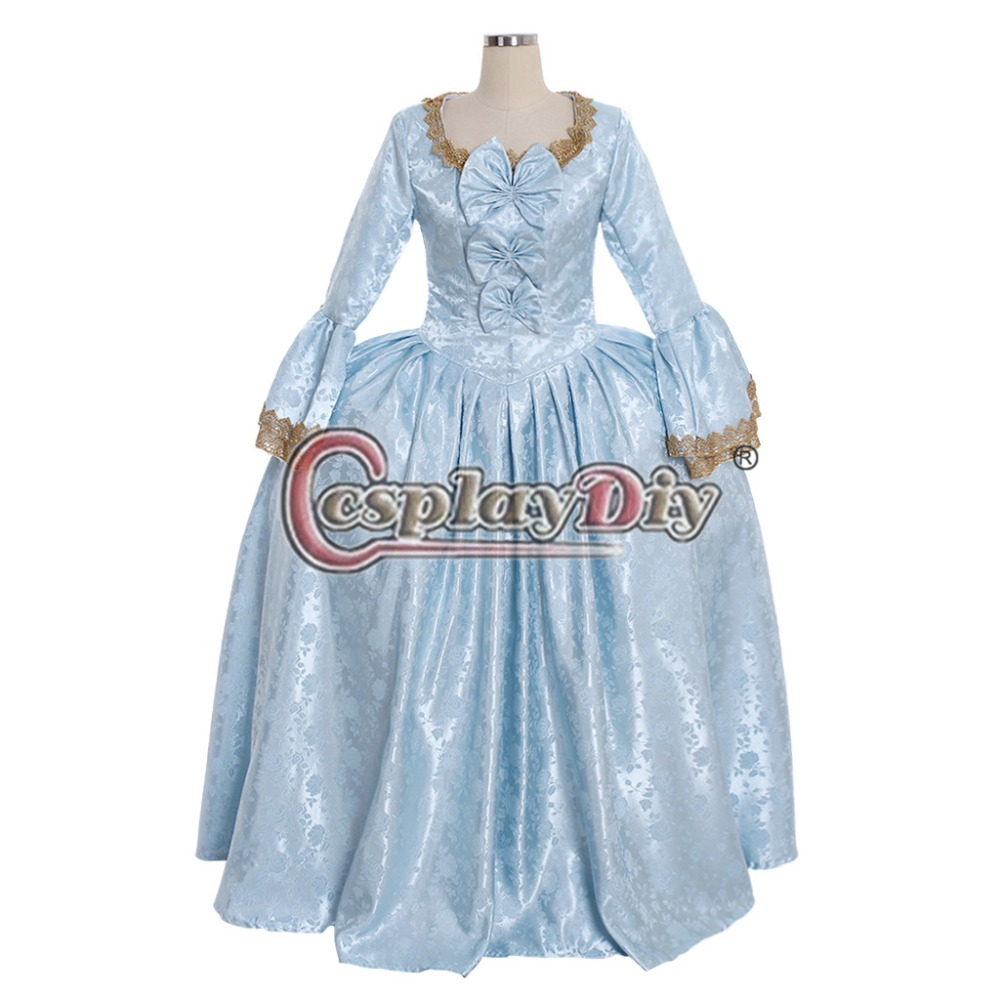 Cosplaydiy 18th Century Marie Antoinette Colonial Rococo Ball Gown Dress Adult Women Blue Belle Dress Wedding Dress L320 Home