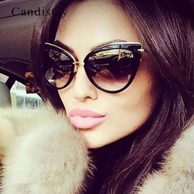 7f87692220f Fashion Women Cateye Sunglasses Fashion Trend Vintage Elegant Oval Lady Sun Glasses  Female oculo de sol Shades Summer style