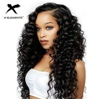 Brazilian Deep Curly Lace Wig Remy 4x4 Lace Front Wigs For Black Women 100% Human Hair Lace Front Wig With Baby Hair X Element