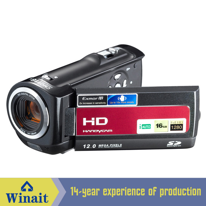 Winait 2017 cheap HDV-777 digital video camera with Build-in Speaker 16X digital zoom Electronic ShutterWinait 2017 cheap HDV-777 digital video camera with Build-in Speaker 16X digital zoom Electronic Shutter
