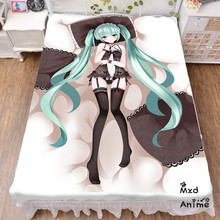 Japan Anime Hatsune Miku Snow Bed sheet Throw Blanket Bedding Coverlet Cosplay Gifts Flat Sheet cd024