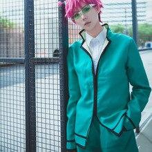 Dla Saiki Kusuo no Psi Nan Cosplay kostiumy katastrofalne życie Saiki K. Mężczyźni pełny zestaw ubrań jednolite