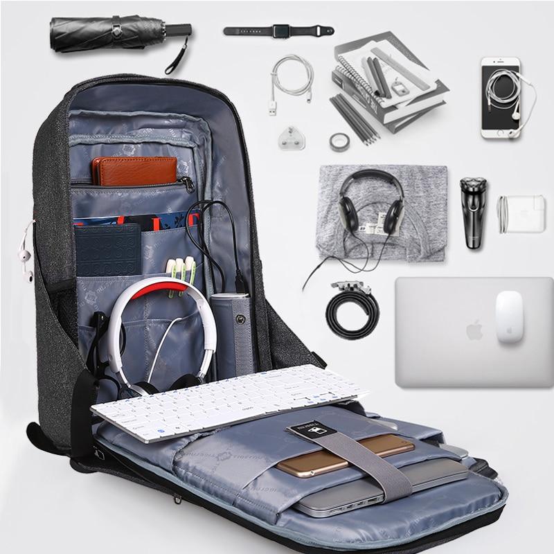 Tigernu Hard Shell Men Anti Theft Schookproof 15.6inch Laptop Usb Recharging Backpacks Travel Male Mochilas Schoolbag For Boys