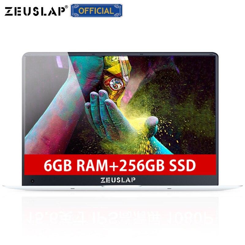 6 GB di Ram SSD DA 256 GB da 15.6 pollici Ultrasottile Intel Apollo Lago Quad Core CPU 1920X1080 P Full HD IPS Schermo Del Computer Portatile di Netbook Del Computer