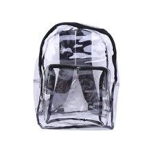Модный женский прозрачный рюкзак из ПВХ дорожная сумка через