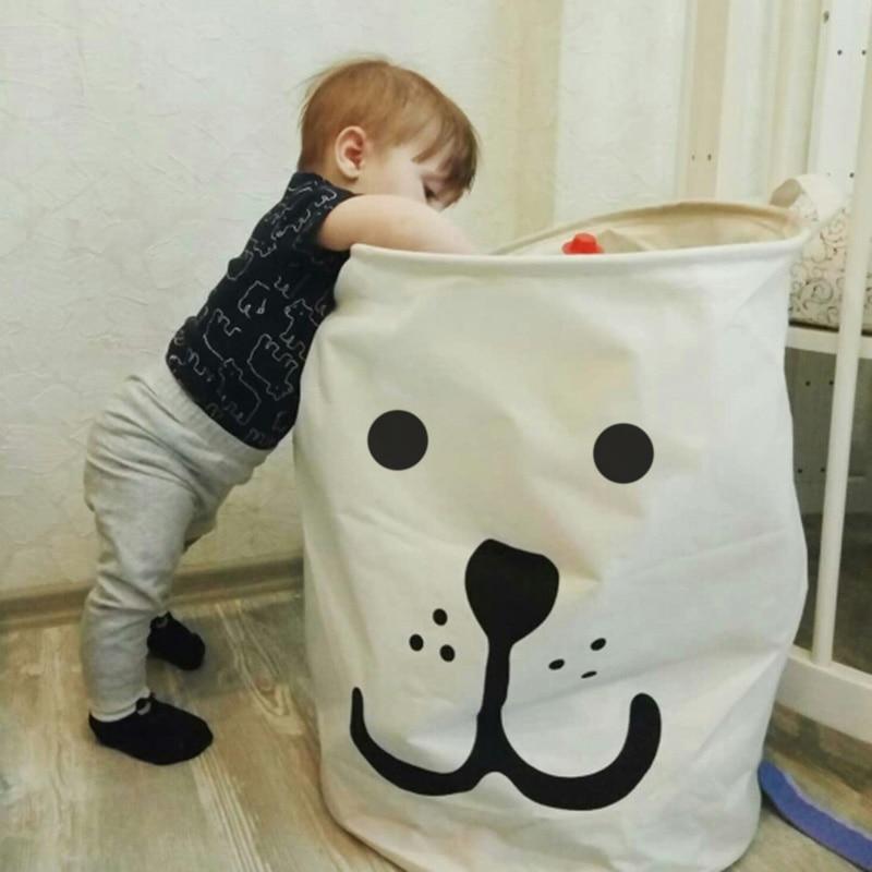 Cesta de Picnic soporte lavandería cesta de juguete Super gran bolsa de algodón lavado de ropa sucia canasta grande organizador Bin mango