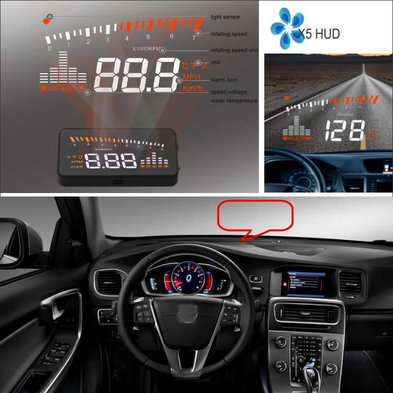 Liislee Car Hud Head Up Display For Volvo Xc60 Xc70 Xc90: Liislee Car Information Projector Screen For Volvo XC60