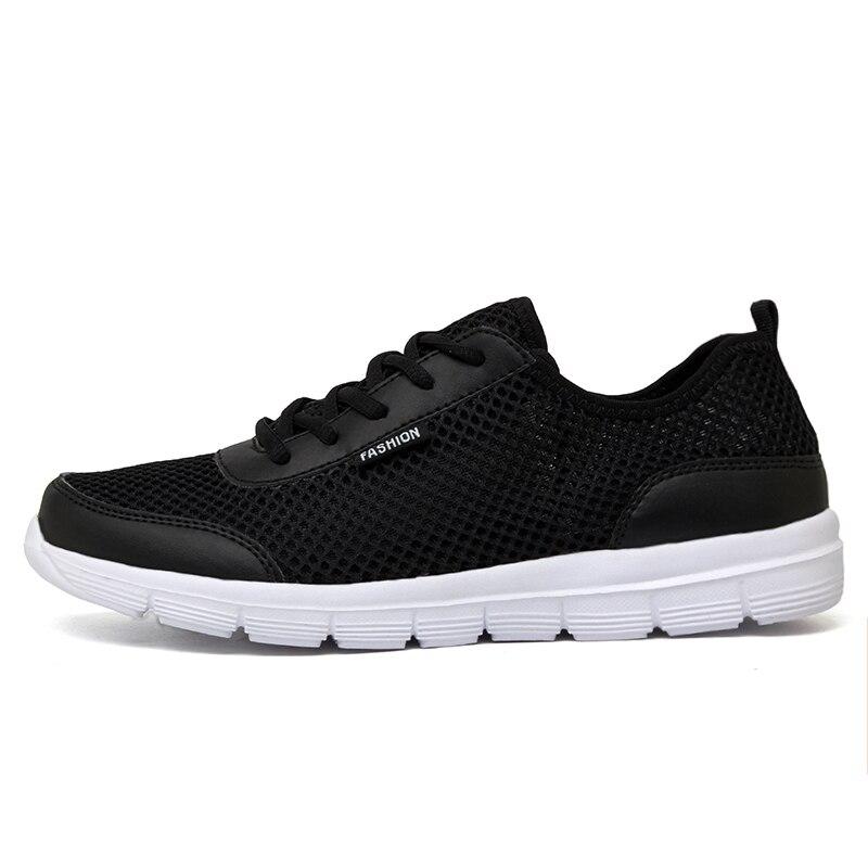 Plus Size 35-48 Hot Men's Casual Shoes Summer Mesh Men Shoes lace-up Lightweight men sneakers zapatos hombre 1607m